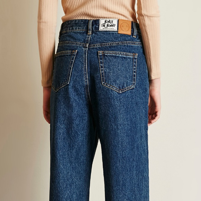 WIDE FIT DENIM PANTS [DARK BLUE]