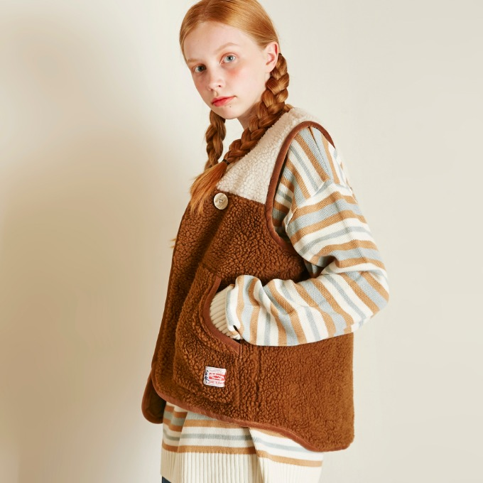 DUMBLE VEST [BROWN]